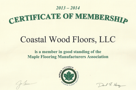 Maple Flooring Manufacturing Association Certified